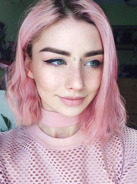 edgy hair color ideas     pink aesthetic