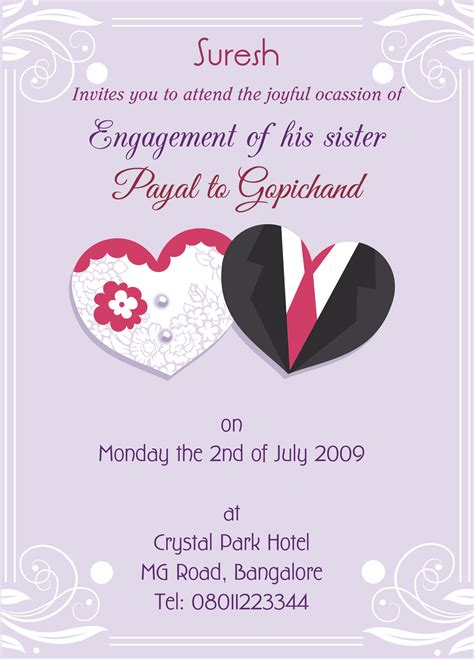 Engagement Invitation by Engagement Invitation Card For With Wordings Check