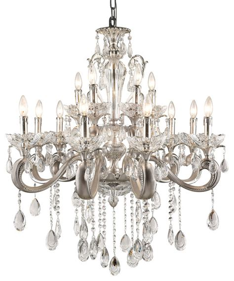 Modern Chandeliers Miami Trans Globe 12 Light Chandelier With Silver Finish Jb 12 Sl Modern Chandeliers Miami