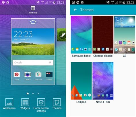 download themes for android samsung galaxy s4 galaxy s6 themes unofficially come to rooted galaxy s4 s5