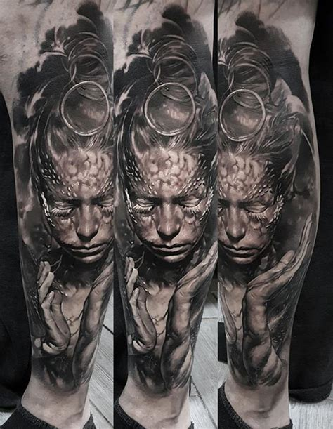 Black And Grey Realistic Tattoo From Domantas Parvainis Realistic Black And Gray Tattoos