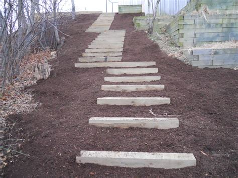 Landscape Timbers Steps Anyway For You Here Landscaping Timber