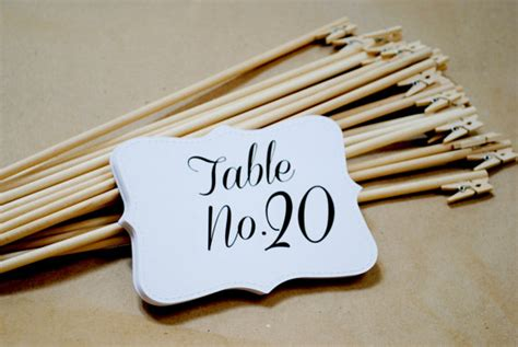 Diy Table Number Holders by Items Similar To Shabby Chic Rustic Table Number Holders