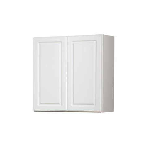 Shop diamond now concord 30 in w x 30 in h x 12 in d white door wall cabinet at lowes com