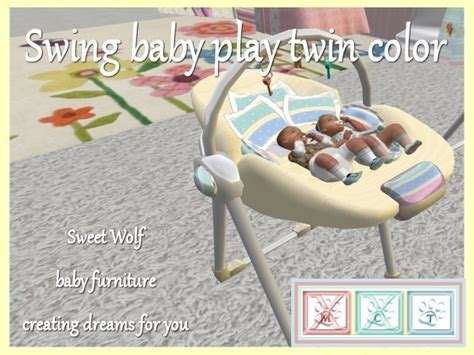 double baby swing second life marketplace swing baby play twin