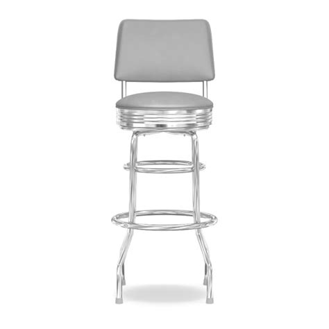 30 Stools With Back by Cushion Back Diner Stools 30 Quot Williams Sonoma