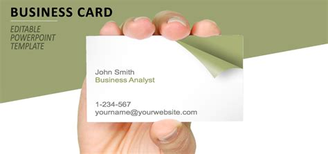 business card presentation template turn the page business card template for powerpoint