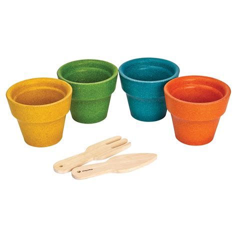 Flower Set a 4 flower pot set plantoys