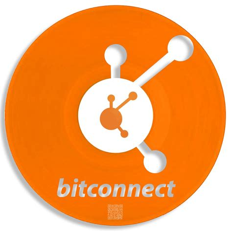 bitconnect logo repurposed crypto wallet art 14 coins personalized gift