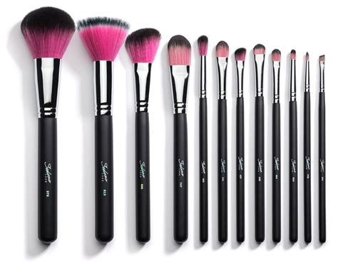 Brush Makeup 12 synthetic professional makeup brushes with brush
