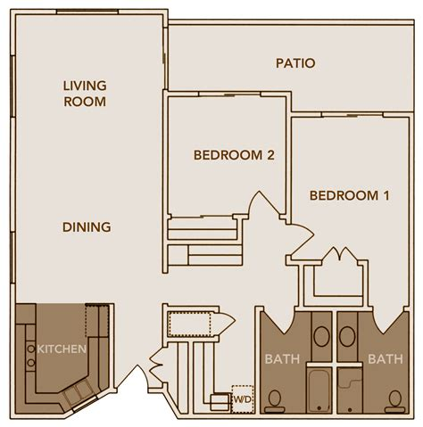 2 Bedroom 1 Bath Apartment by Floor Plans Inland Christian Home A Multi Level Senior