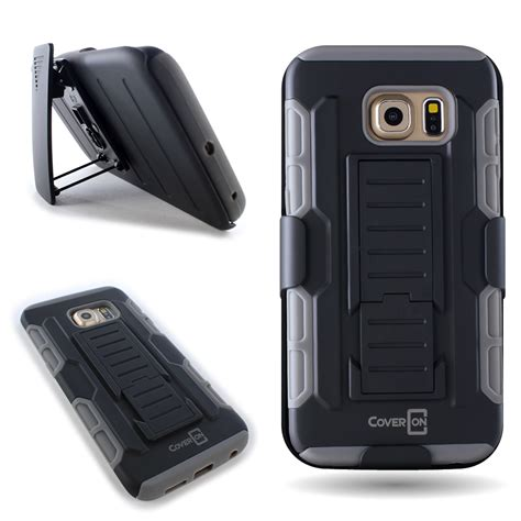 Casing Cover Samsung S6 Edge Stand Holster Belt Clip Armor Future coveron 174 for samsung galaxy s6 edge holster protective belt clip cover ebay