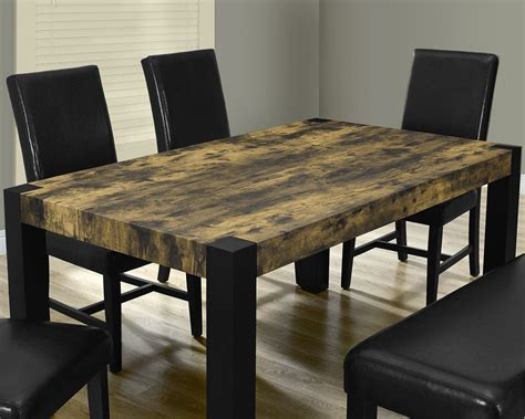 distressed dining room furniture distressed black dining room set 1620 monarch