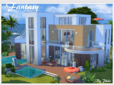 home design no download fantasy house no cc by philo at tsr 187 sims 4 updates