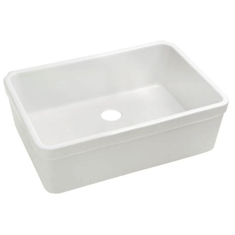 white single bowl kitchen sink whitehaus collection basichaus farmhaus apron series front