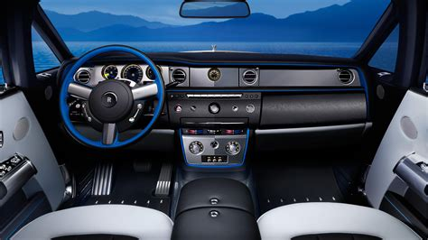 rolls royce blue interior rolls royce phantom drophead waterspeed collection