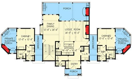 compound floor plans family compound or couples retreat 15870ge 1st floor