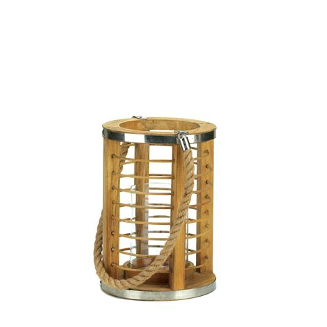 wooden strand candle lantern wholesale at koehler home decor