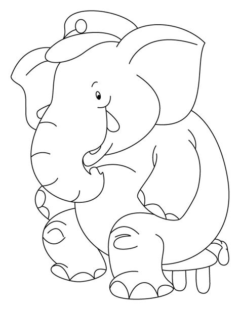 elephant trunk coloring page elephant trunk up coloring pages