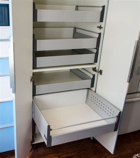 pull out drawers for cabinets ikea ikea s 30 pantry cabinet with blum tandembox pull out