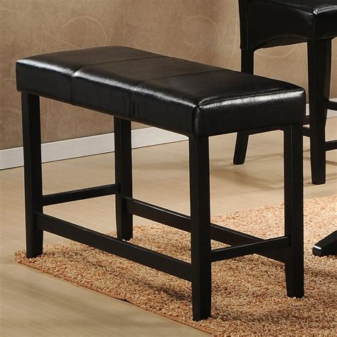 bench n bar homelegance papario counter height bench black dining