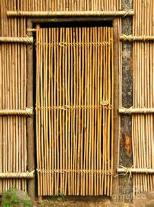 simple bamboo door photograph by yali shi