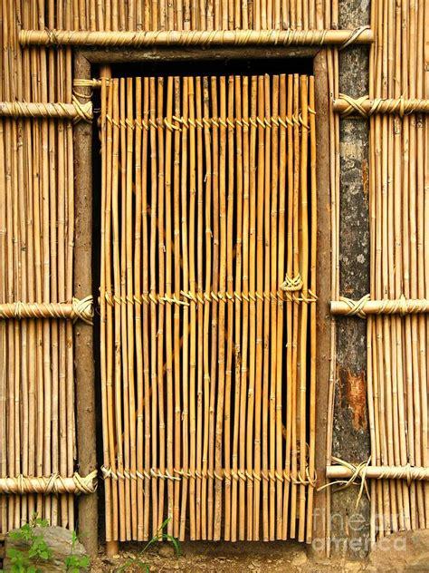 Bamboo Doors by Simple Bamboo Door Photograph By Yali Shi