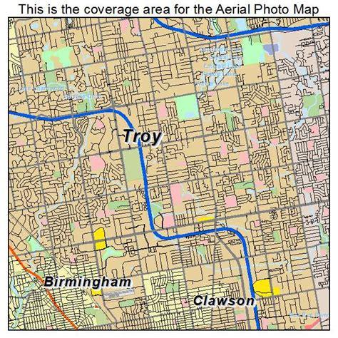 Troy Michigan aerial photography map of troy mi michigan