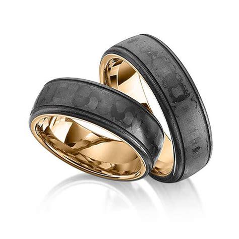 Trauringe Carbon Gold by Trauringe Ros 233 Gold 585 Mit Carbon Einzug Y 1318 4