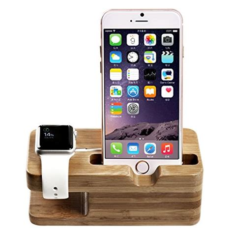 Stand Charger Smartphone Premium Charging Dock Apple apple stand oittm premium 2 in 1 bamboo charging dock apple iwatch charging stand