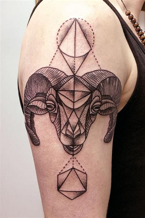 geometric goat tattoo great geometric pictures tattooimages biz