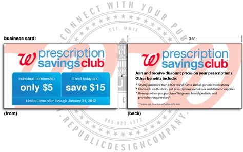 savings club card template business cards walgreens images card design and card