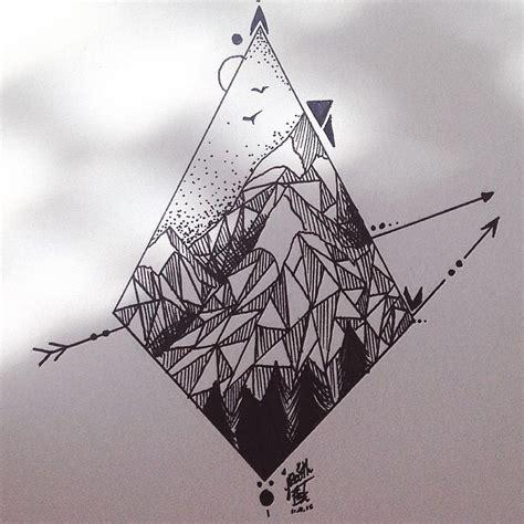 minimalist geometric tattoo pinterest simple geometric mountains tattoo design mountain tattoo