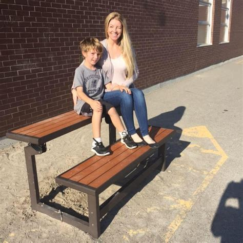 rachel bench inspired by 8 year old son mom raises support for more buddy benches ctv news