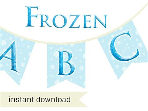 printable happy birthday banner frozen disney frozen banner elsa anna magical printable