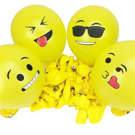 Balon Tiup Emoticon 100 Pcs 12 inch smiley emoji balls balloon 100 pcs happy birthday decorationwedding