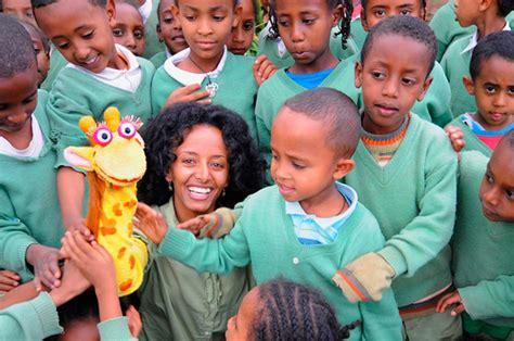 hand puppet  helping millions  ethiopian kids
