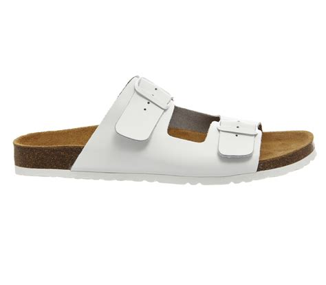 2 buckle sandals lyst office marbella buckle sandals in white for