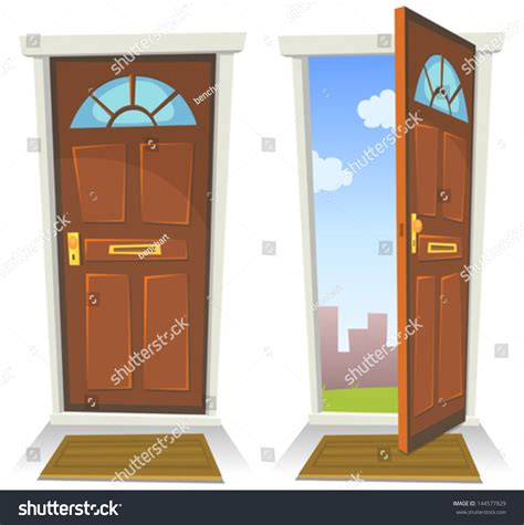door open closed illustration stock vector 144577829