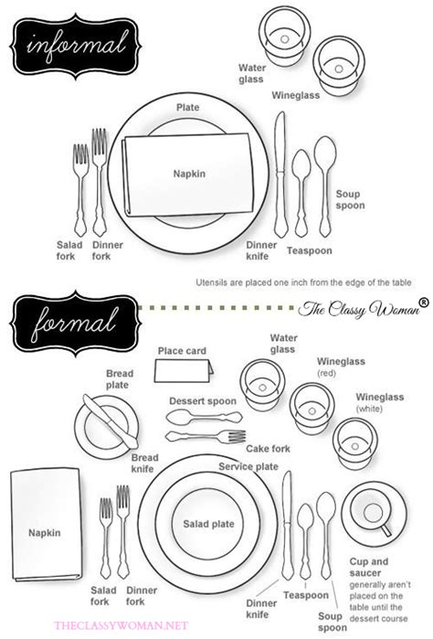 how to properly set a table the classy woman 174 manners monday how to properly set a