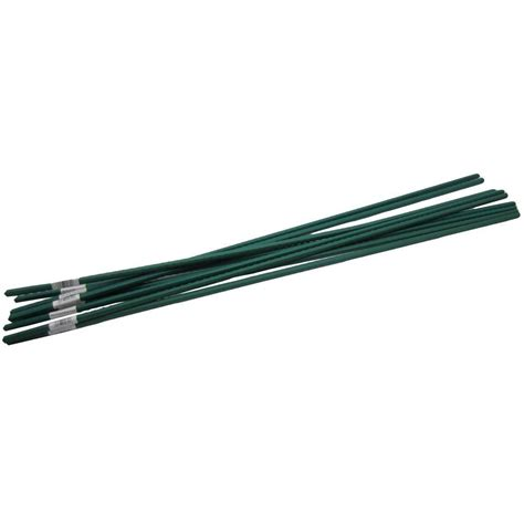 plant l home depot viagrow 4 ft steel coated plant stake support 10 pack