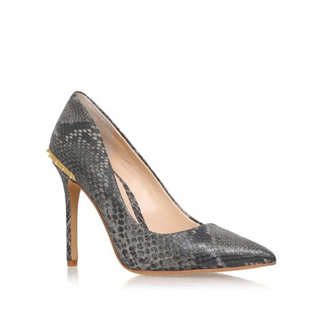 gray high heel shoes vince camuto nalda high heel court shoes in gray lyst