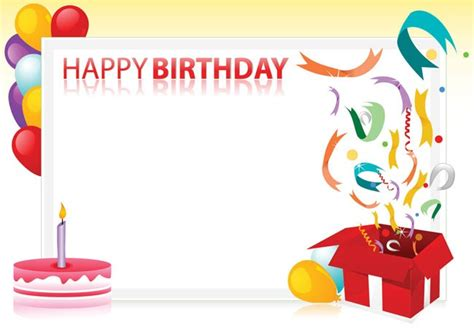 Birthday Card Template Clipart by Best Birthday Border 888 Clipartion