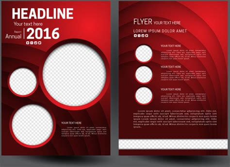 free graphic design templates for flyers annual report flyer template on 3d red background free