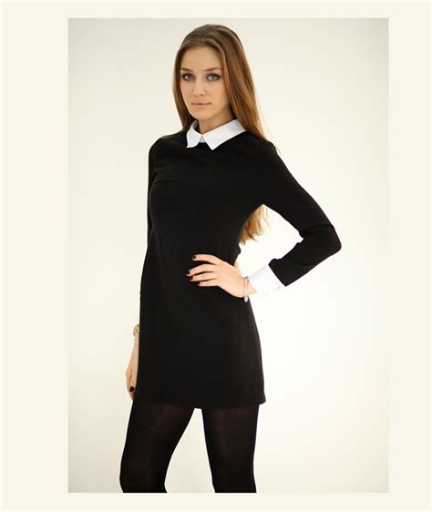 Womens Black Blouse With White Collar by Black Shirt White Collar Womens Is Shirt