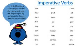 imperative verbs by hayleysamb teaching resources tes