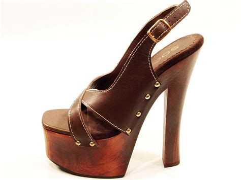 platform clogs for womens soca high heel wood platform strappy slingback