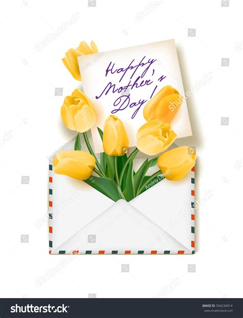 tulip s day card template tulips note envelope template greeting card stock
