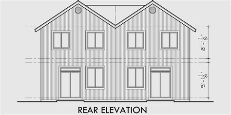 Two Story Duplex House Plans by Narrow Lot Duplex House Plans Two Story Duplex House Plans