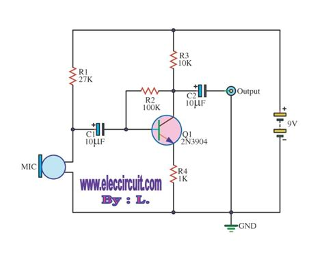 microphone prelifier circuit diagram image gallery microphone circuits